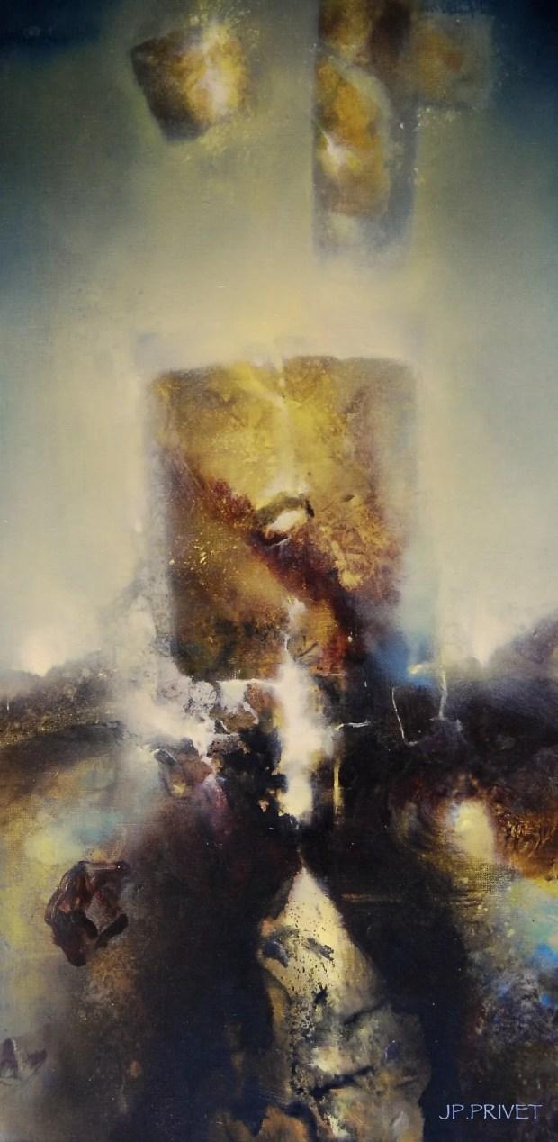 Décembre 2019 (acrylique sur toile 100 x 50 cm)