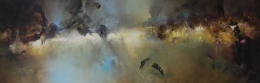 L'annonciateur (acrylique su toile 50 x 150 cm) 2021