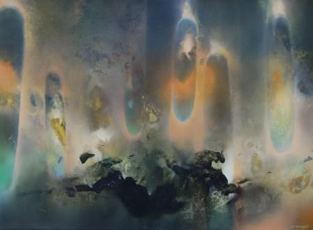 Le galop de l'ombre (Acrylique sur toile 73 x 100 cm) 2021
