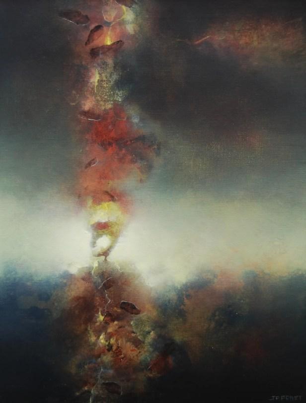 Rouge de l'ombre (Acrylique sur toile 65 x 50 cm) 2021