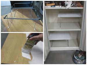 Storage cabinet extra shelving