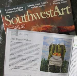 My work in Southwest Art magazine