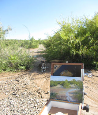 Plein air painting with my dog