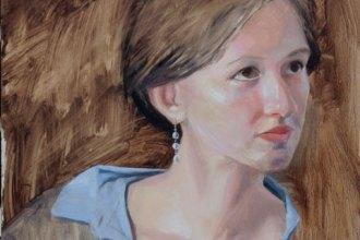 oil sketch of Tess, oil on panel, 16x12in, Jean Wilkey