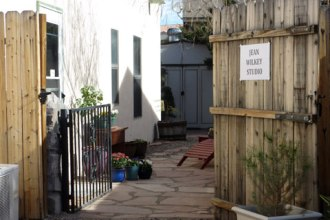 Entrance to Jean Wilkey's studio