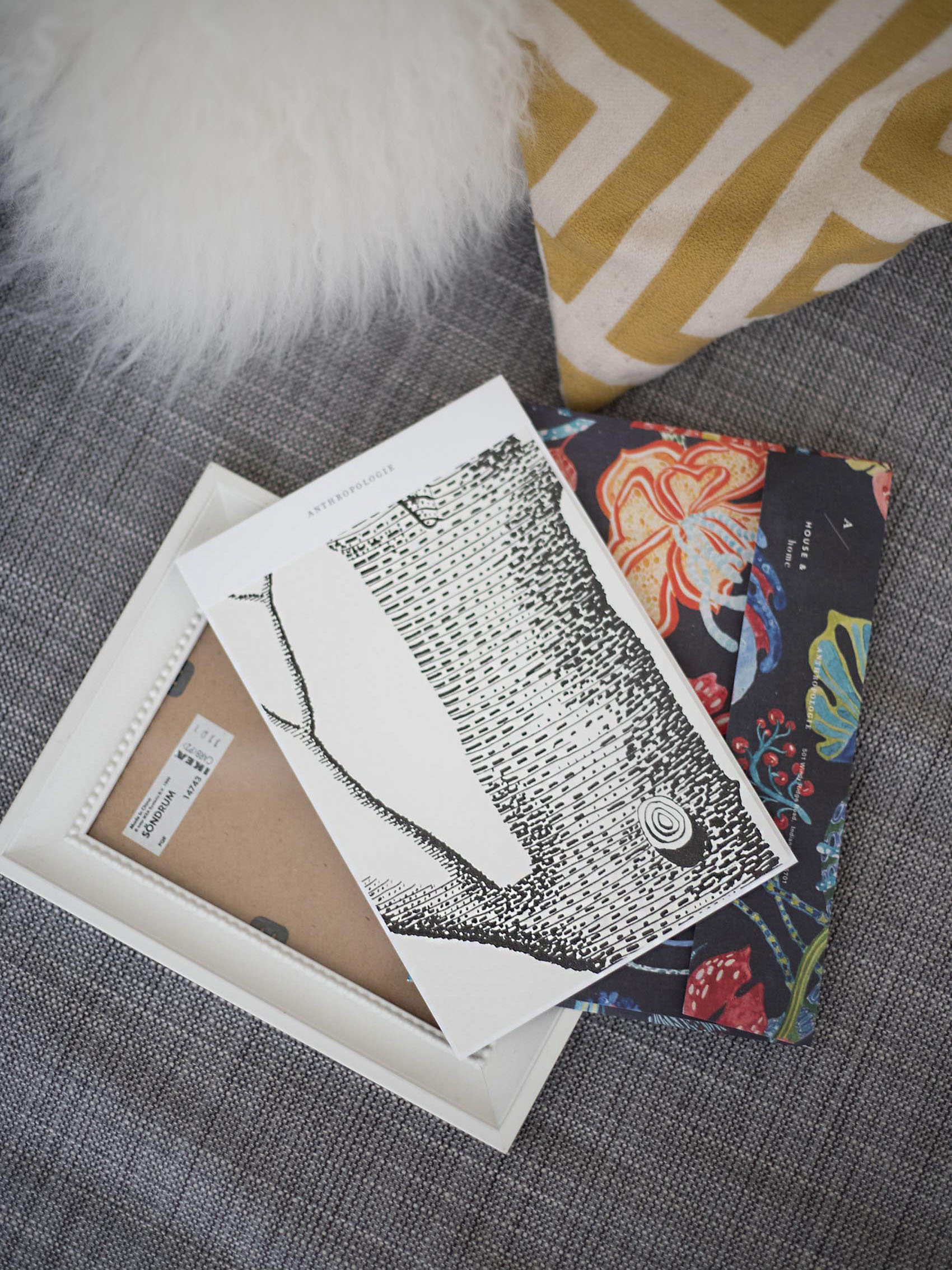 Anthropologie Wallpaper Sample Art Jeans And A Teacup