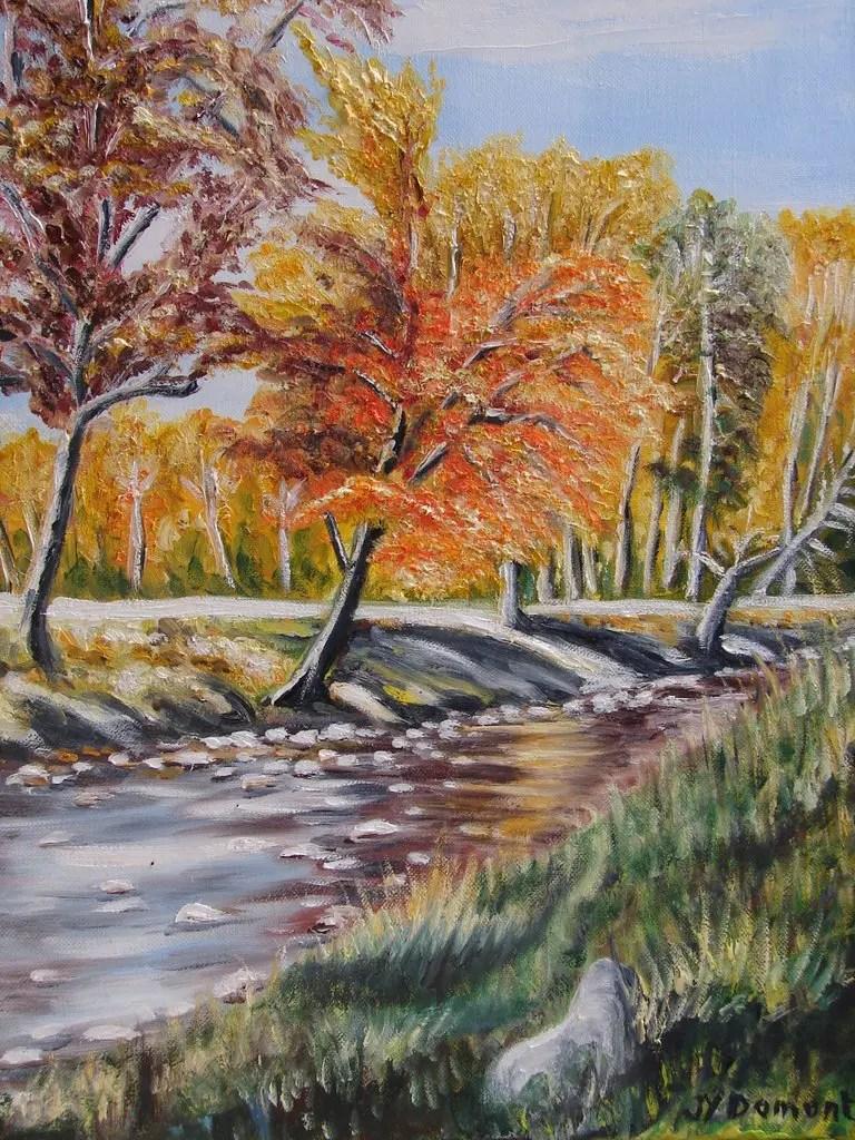 La rivière en automne aux White Mountains / Etats Unis