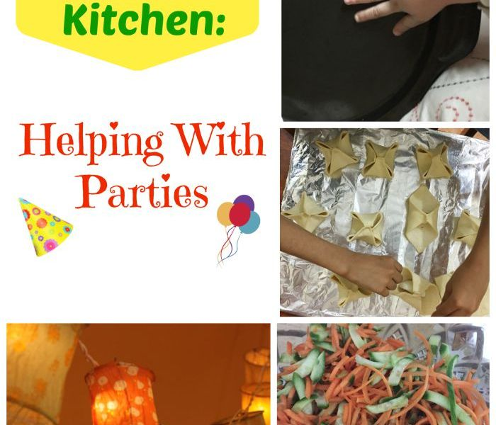 Kids in the Kitchen Helping with parties WordsnNeedles
