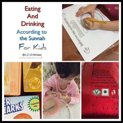 eating and drinking sunnah muslim islamic manners A-Z of Akhlaaq series