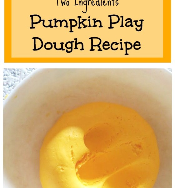 pumpkin play dough recipe two ingredients no cook no mess fall sensory play