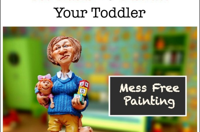 mess free painting tot hack to distract kids toddlers
