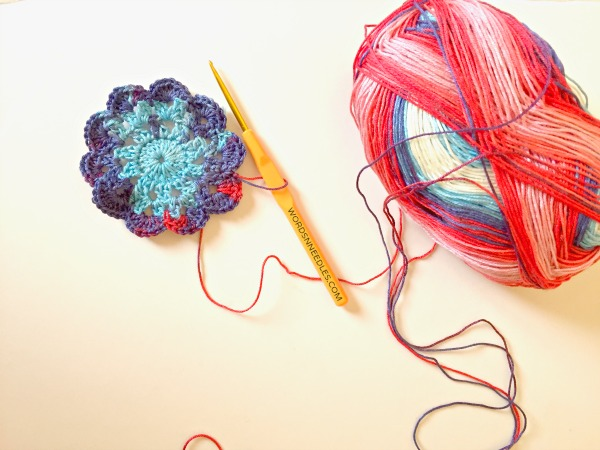 crochet flower wordsnneedles
