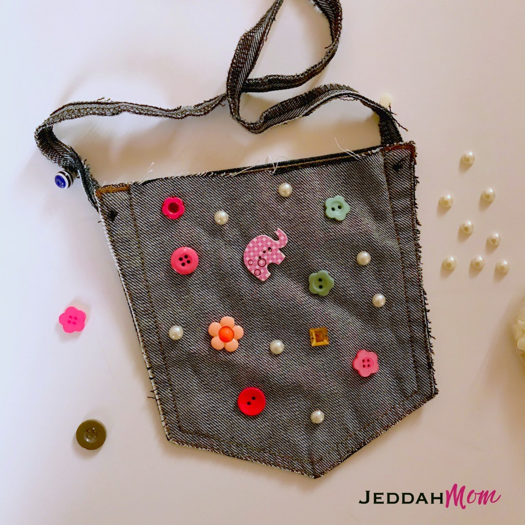 How to Upcycled Denim Purse from Old Jeans JeddahMom