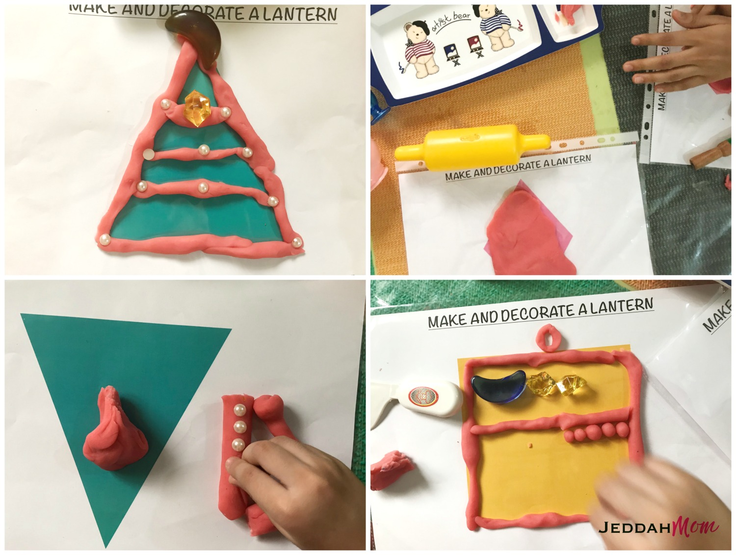 Make and decorate a lantern sensory activities and playdough mats for kids JeddahMom
