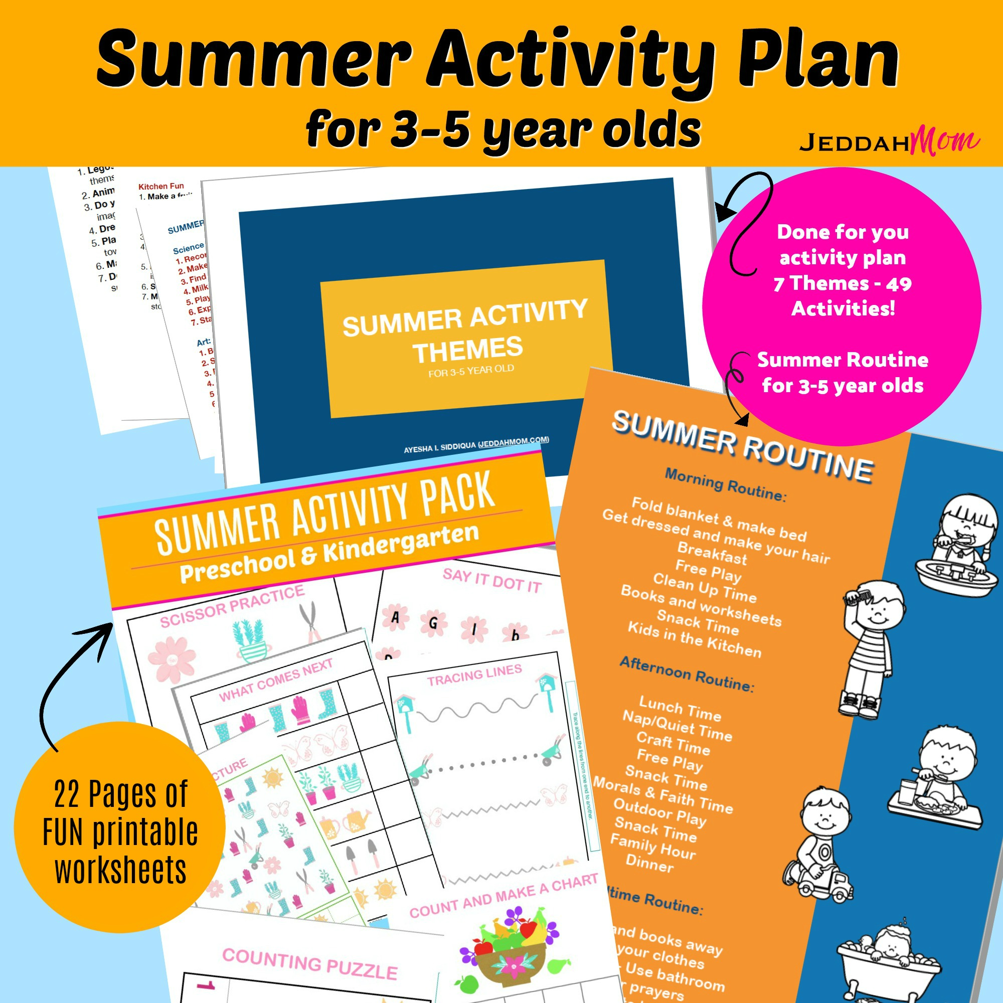 Summer Activity Plan for 3-5year olds JeddahMom