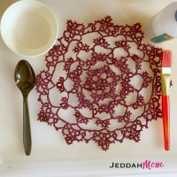 How to Stiffen Lace with Starch