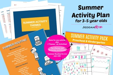 Summer Activity Plan 2019 JeddahMOm