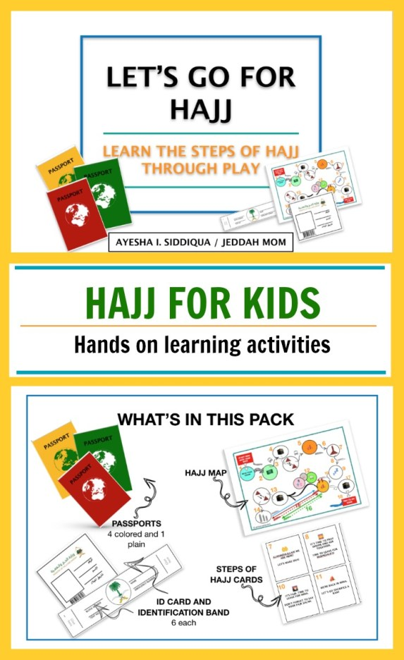 Printable Hajj activity pack for kids hands on learning by JeddahMom