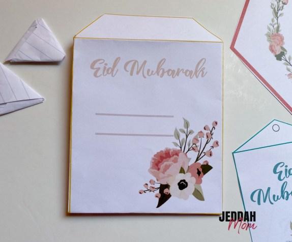 Eid Mubarak Envelope JeddahMom