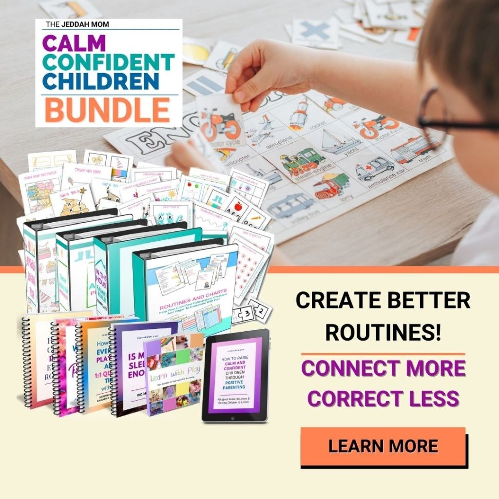 calm confident children bundle of routines and kids activities jeddahmom
