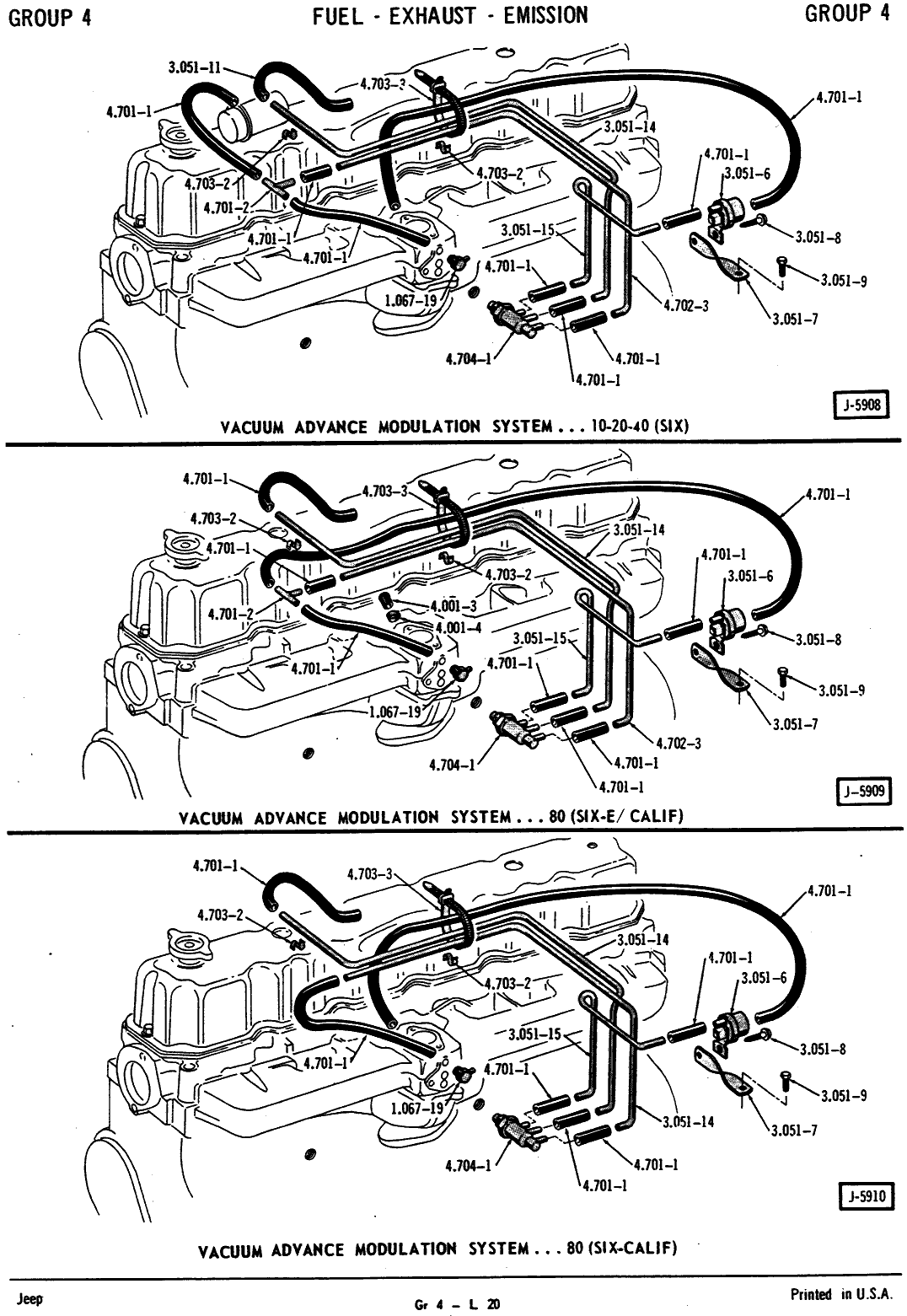Ford 370 Engine Vaccum Diagrams