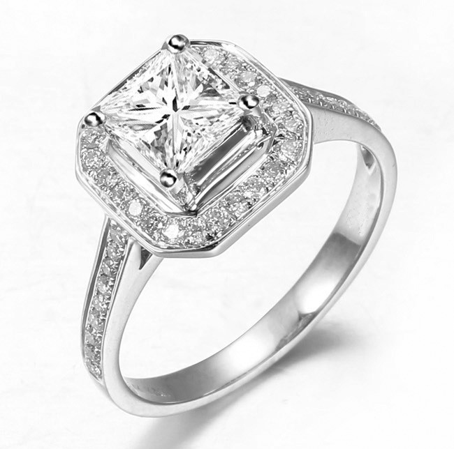 My Engagement Ring Princess Cut Diamond With Halo And