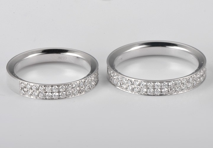 Exquisite His And Her Rings 1 Carat Diamond On Gold