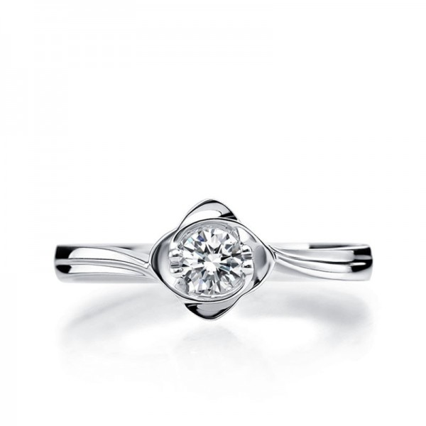 Enthralling Solitaire Wedding Ring 025 Carat Round Cut