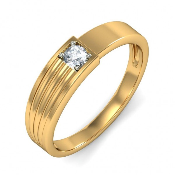 Wedding Ring Band For Him In White Gold JeenJewels