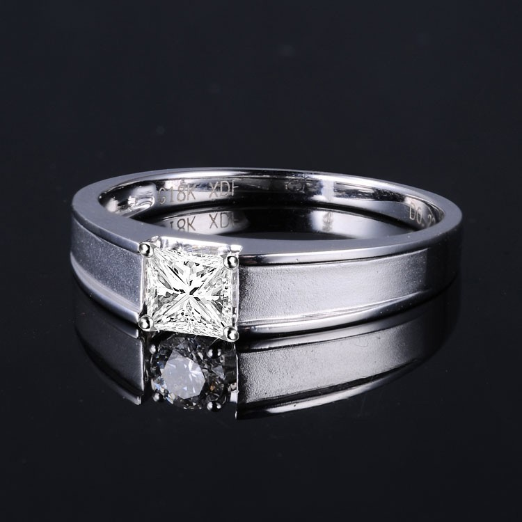 33 Carat Princess Cut Diamond Mens Diamond Wedding Band