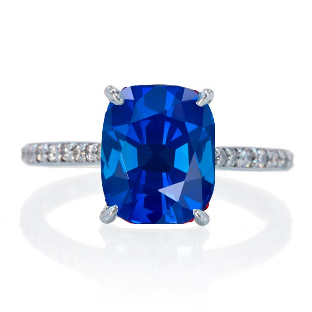 225 Carat Cushion Cut Sapphire And Diamond Celebrity