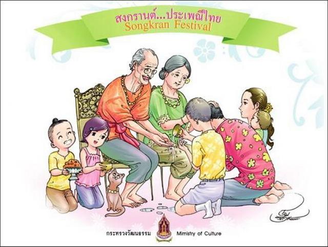 คำศัพท์ภาษาจีน สงกรานต์ 泼水节 Songkran Festival