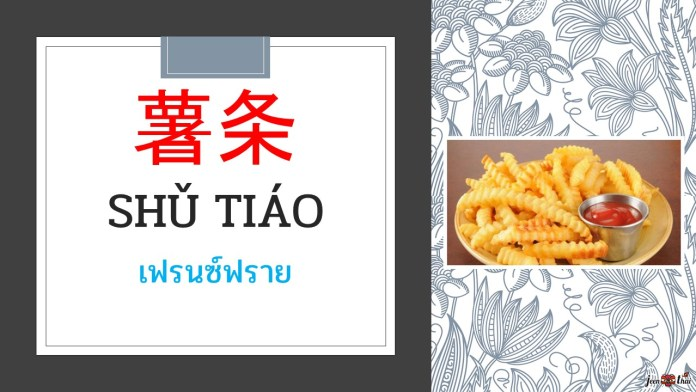 คำศัพท์ภาษาจีน อาหารขยะ