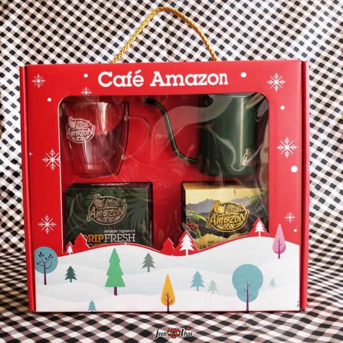 Café Amazon Ready To Drip Gift Set 2021 ชุดกาแฟดริปต้อนรับวันคริสต์มาส