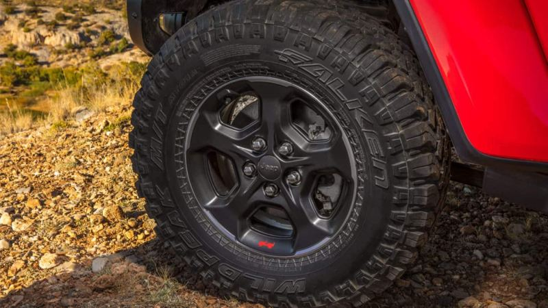 Display Close up of the rubicon wheel