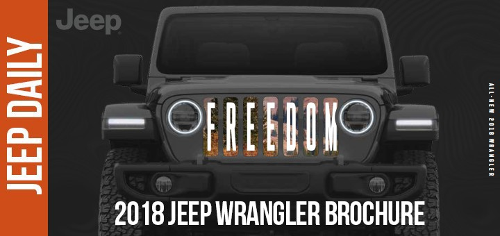 2018 Jeep Wrangler Jl Brochure – Daily News And Videos
