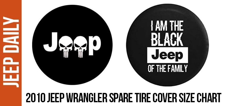 2f2ed3f03fba 2010 Jeep Wrangler Spare Tire Cover Size Chart