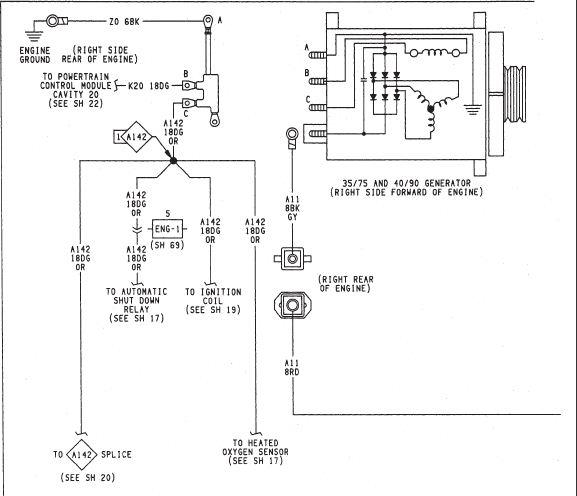 1988 jeep wrangler alternator wiring diagram  description