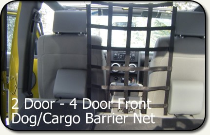 Aspen Mfg Jeep JK Front DogCargo Barrier Net 2D4D FB