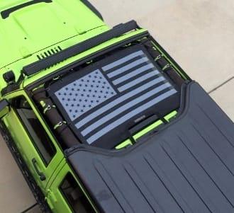 JKIni Tactical American Flag Custom Print - SpiderWebShade