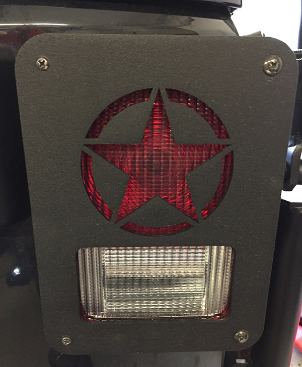 DNA JEEP TAIL LIGHT COVERS INSTALLED
