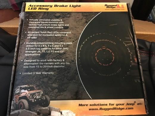 Rugged Ridge LED Brake Light Packing