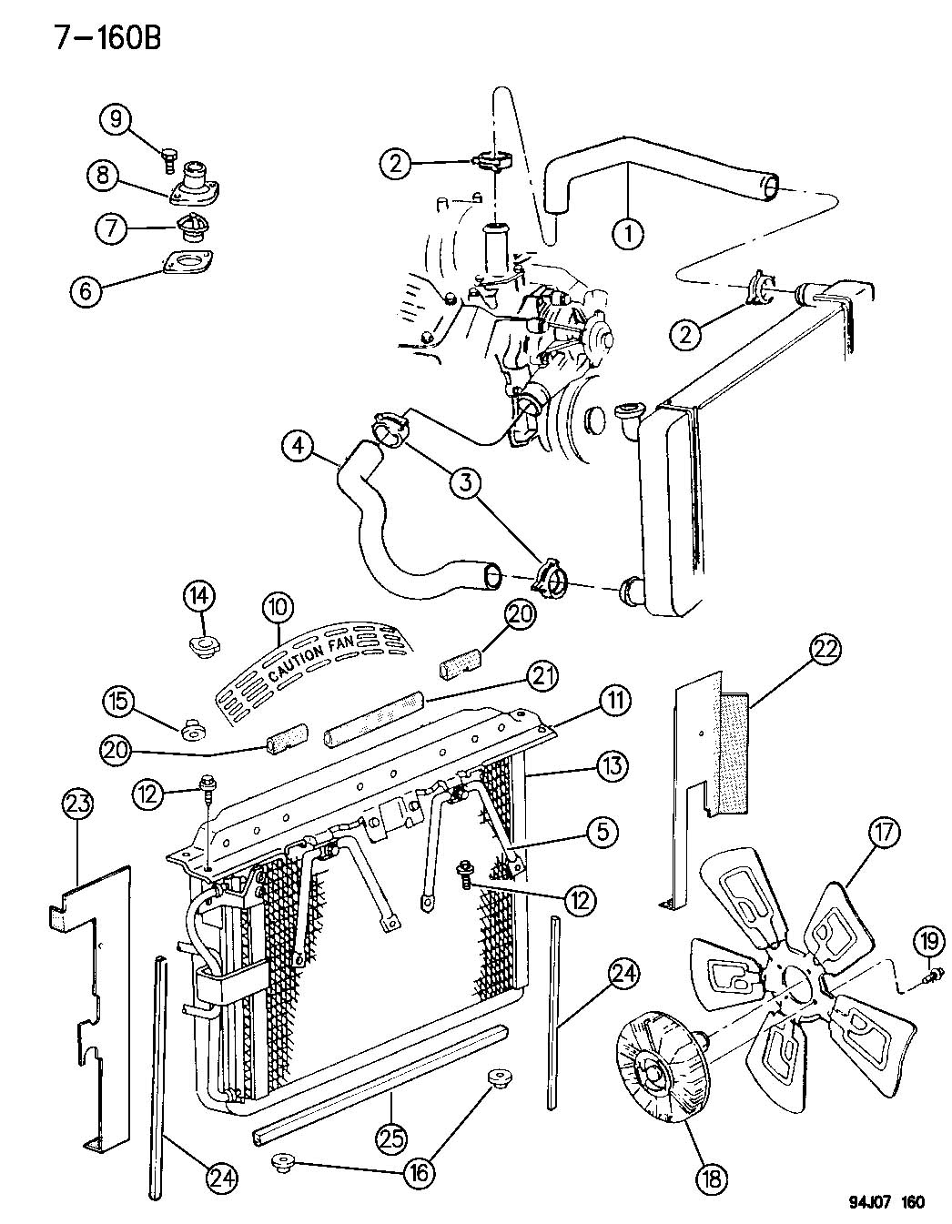Jeep Cherokee Grommet Lower Radiator Engine