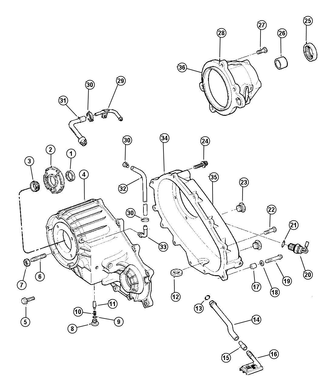 Jeep Grand Cherokee Dowel Transfer Case Dhc Dhr