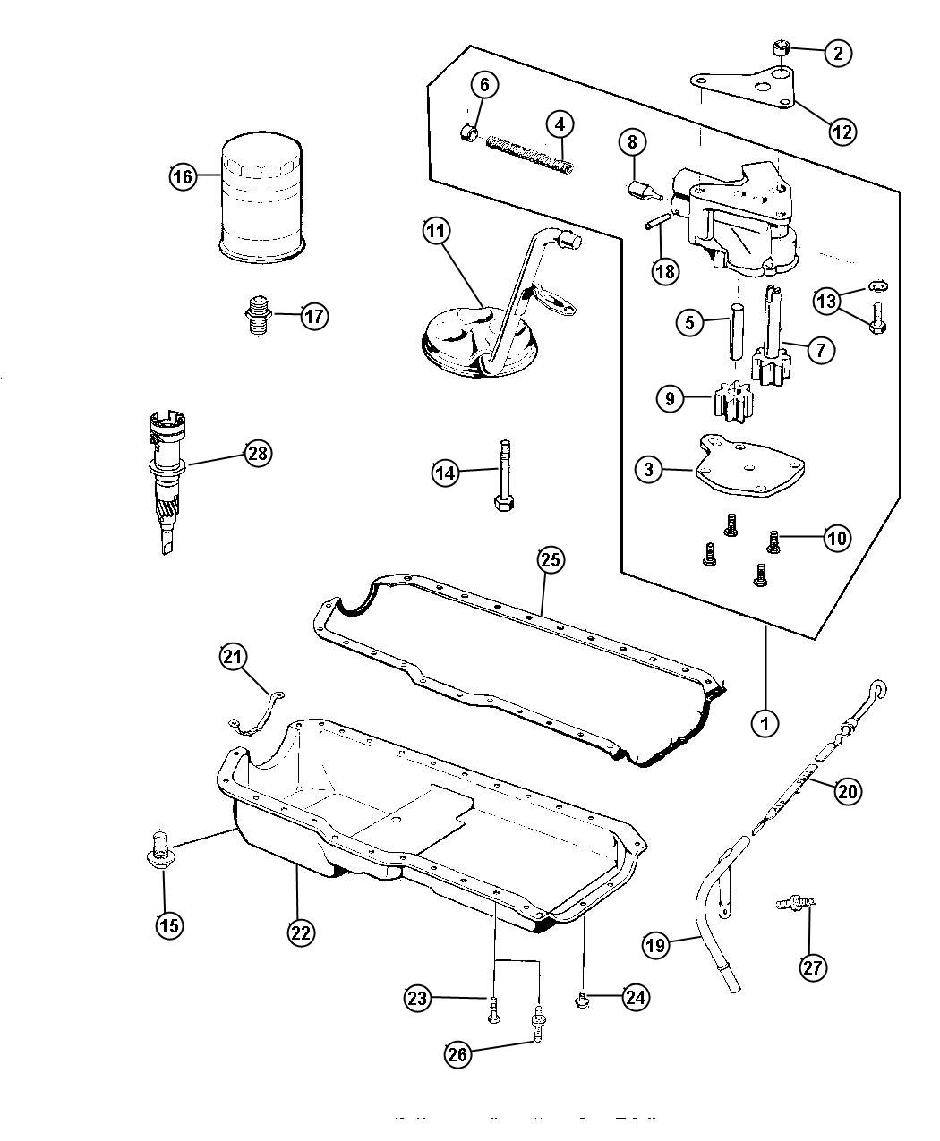 Jeep Wrangler Support Engine Oil Pan Knockdown Amc Acx