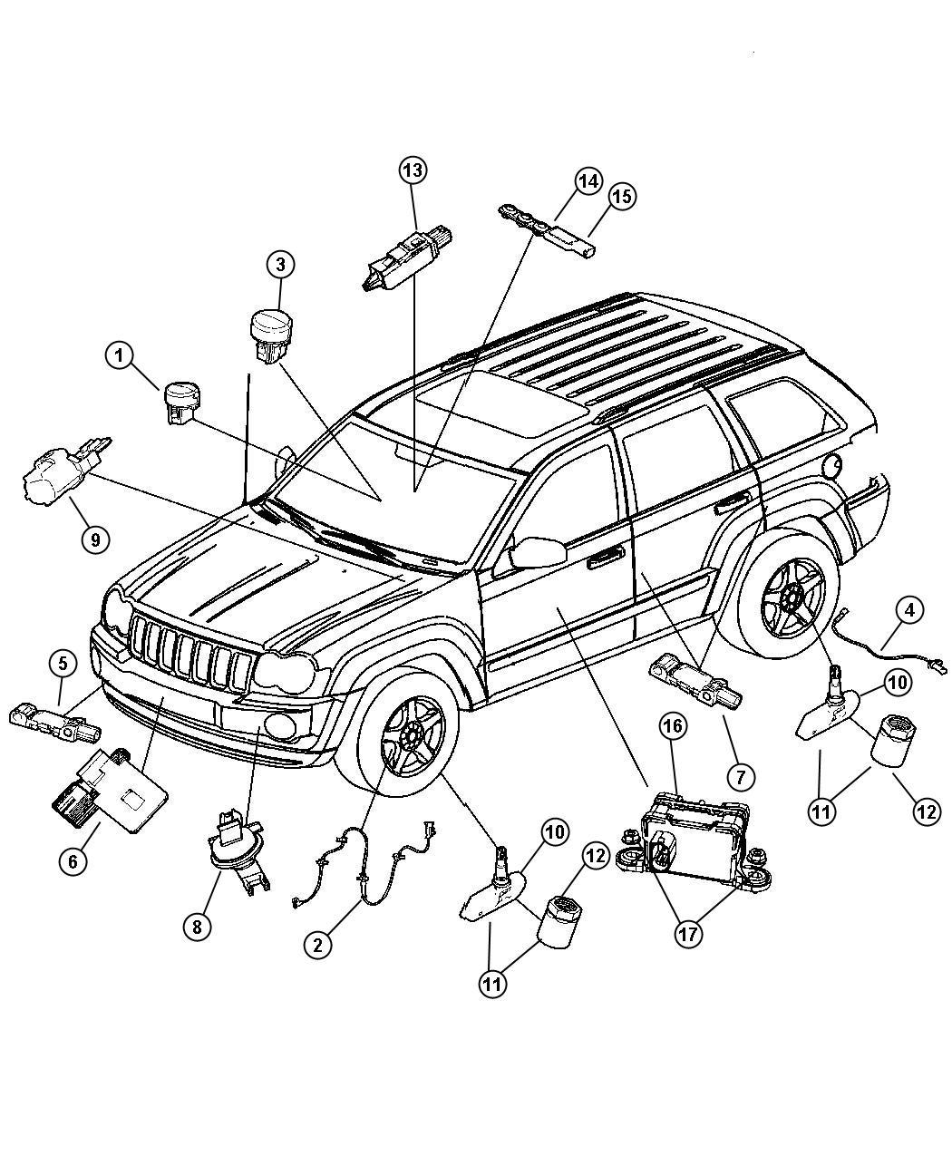 Jeep Grand Cherokee Sensor Kit Strain Gauge Trim