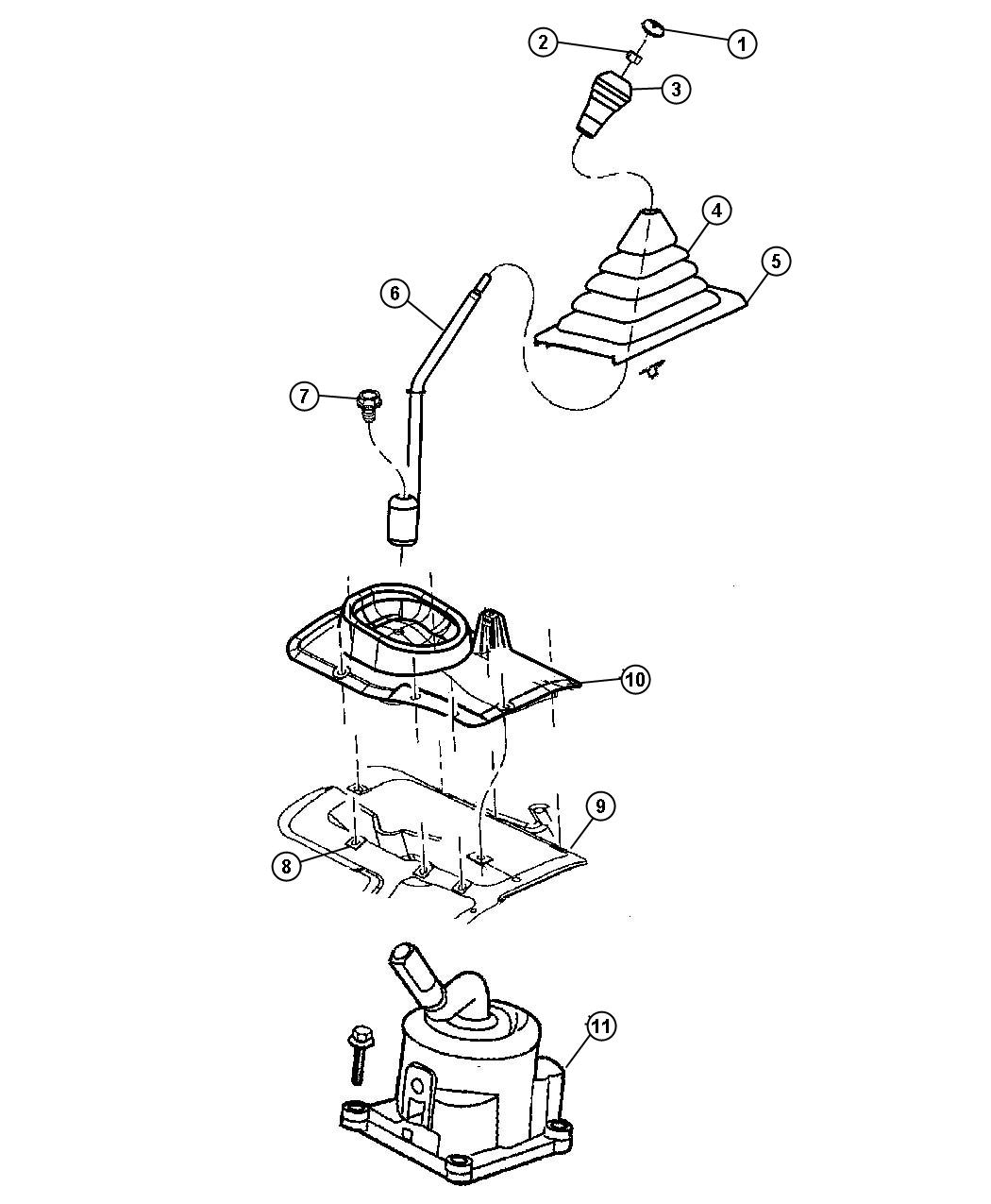 Jeep Wrangler Shifter Tower Controls Gearshift Rear