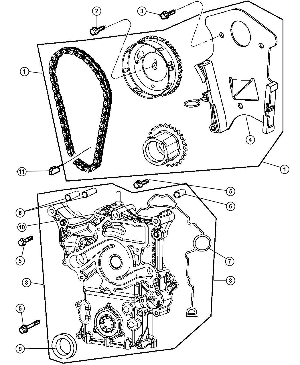 Jeep Commander Bushing Timing Cover Mounting Eze