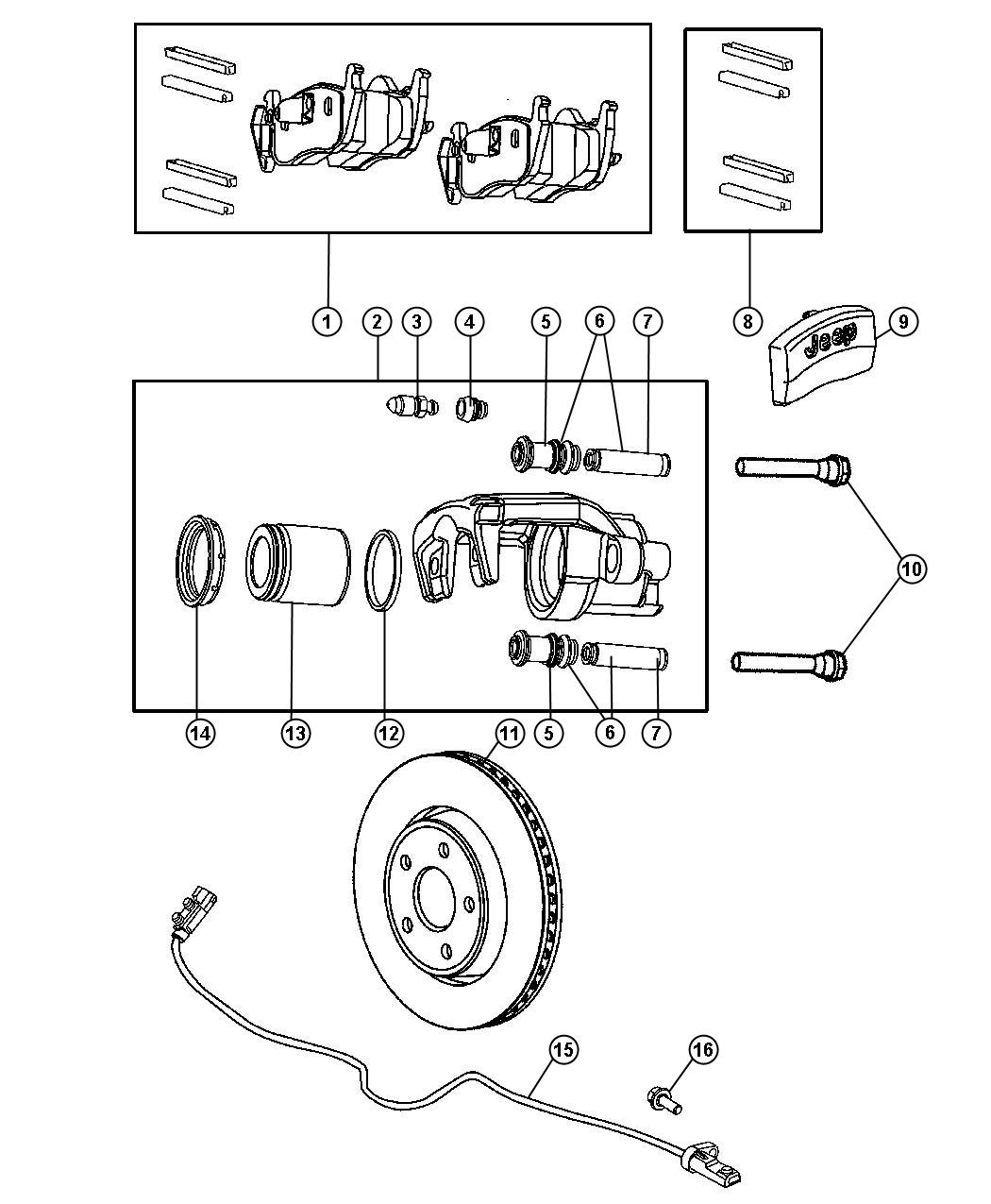 Jeep Commander Caliper Caliper Assembly Disc Brake