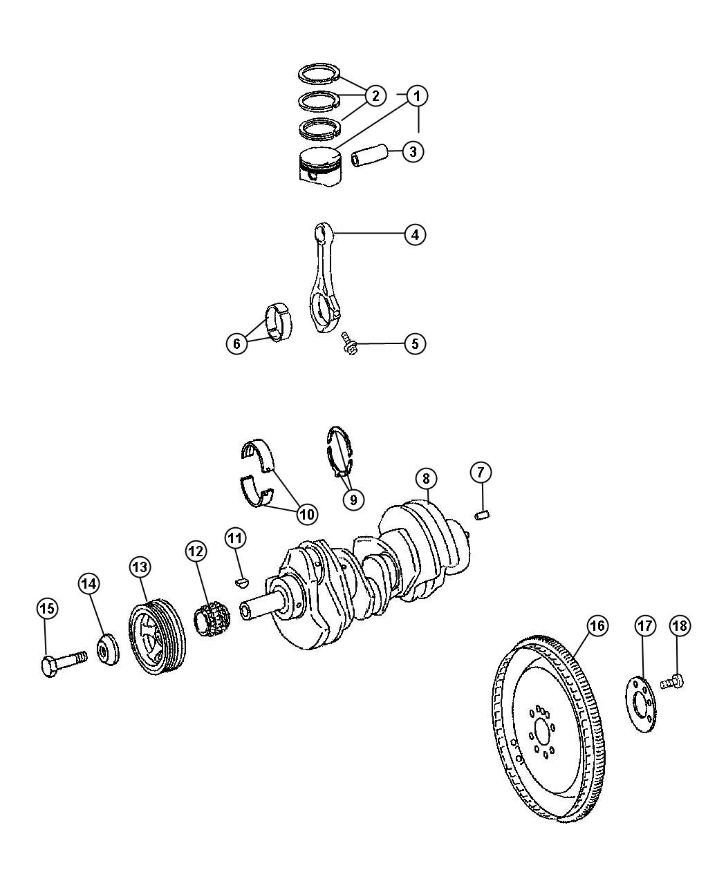 Jeep Cherokee Crankshaft